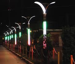 نصب پایه چراغ خیابانی
