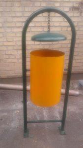 سطل زباله فلزی پارکی