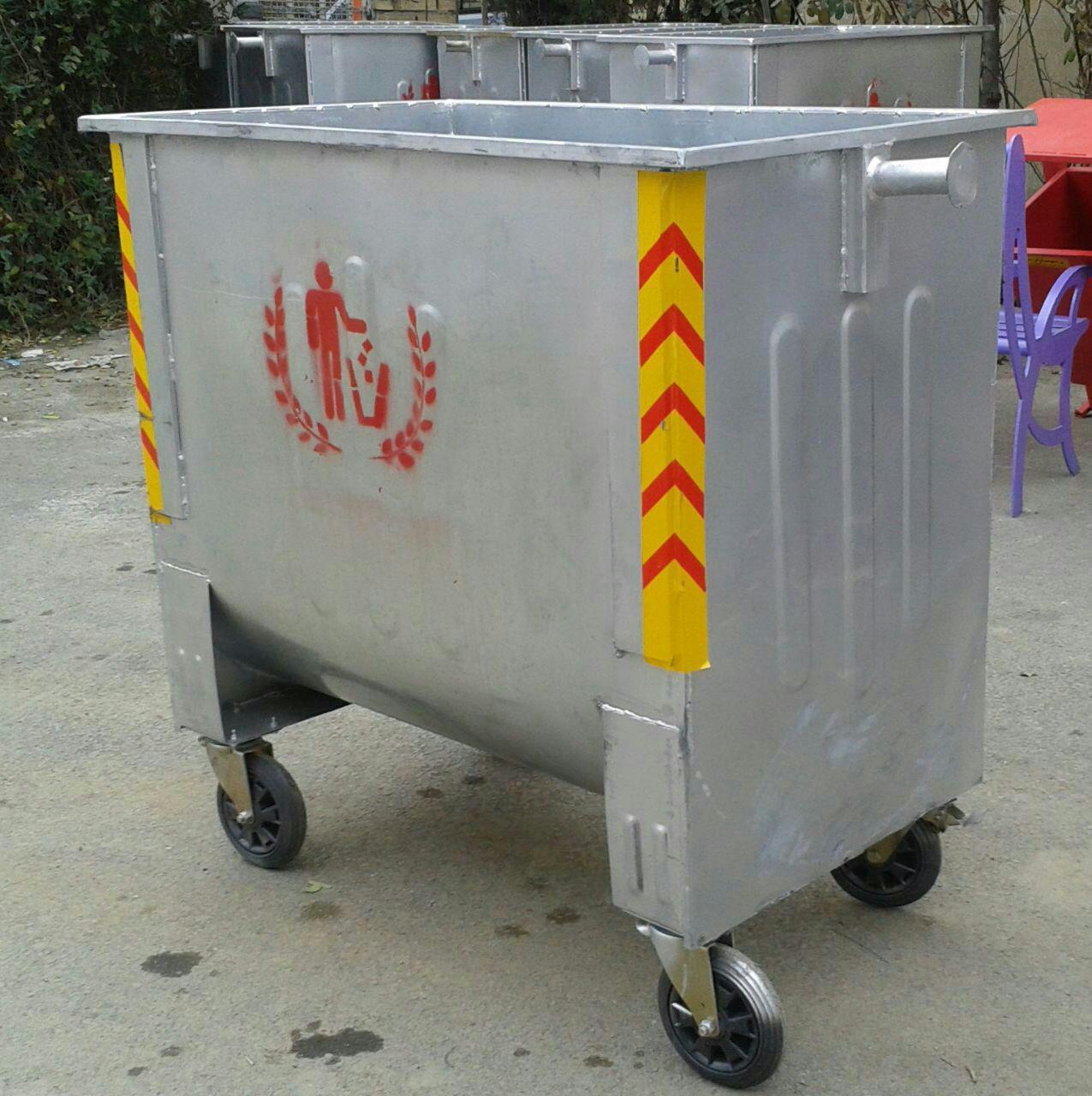 قیمت سطل زباله 1100 لیتری