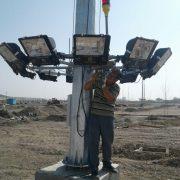 نصب پروژکتور برج نوری
