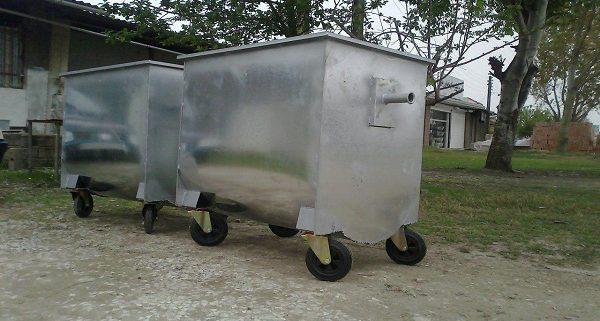 قیمت سطل زباله مکانیزه گالوانیزه